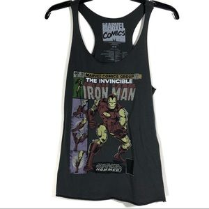 Gray Marvel Comics Iron Man Comic Graphic T Shirt